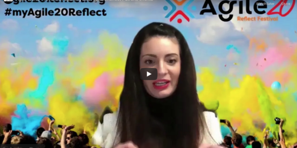 Agile World S1 E1 Sabrina C E Bruce and Karl Smith review of Opening and Agile20Reflect Patrons Events
