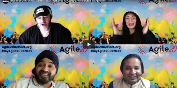 Agile World S1 E5 Sabrina C E Bruce and Karl Smith and guests Sathpal Singh and Anurag Shrivastava