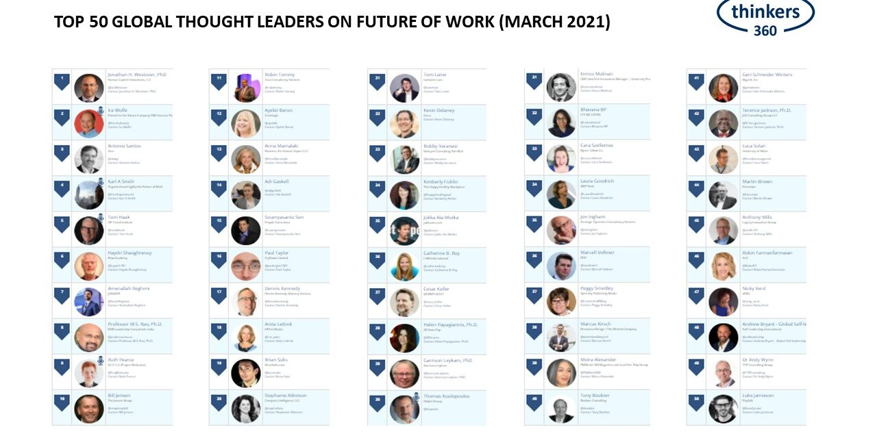 Agile World Karl Smith in Top 50 Global Thought Leaders and Influencers on Future of Work