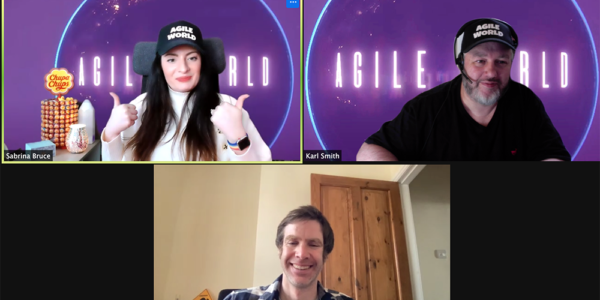 Agile World S2 E9 Sabrina C E Bruce and Karl Smith talk with Phil Baird about his Agile journey